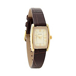 Sekonda - Ladies dark brown mock croc watch 4518.28