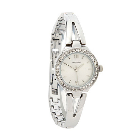 Sekonda - Ladies stone set semi-bangle bracelet watch