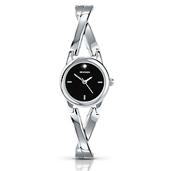 Sekonda - Ladies black stone set dial watch