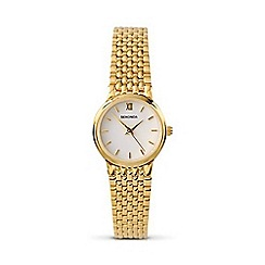Sekonda - Ladies round gold plated watch