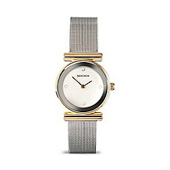 Sekonda - Ladies white stone set silver mesh strap watch