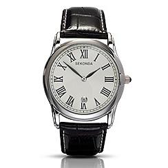 Sekonda - Men's black analogue mock croc watch