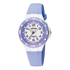 Lorus - Kids' lilac polyurethane strap watch with back light
