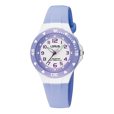 Lorus - Kids+ lilac polyurethane strap watch with back light
