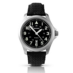 Sekonda - Men's black canvas strap watch