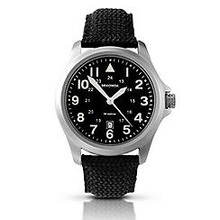 Sekonda - Men's black canvas strap watch