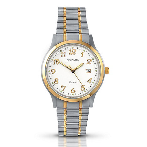 Sekonda - Men+s silver two tone watch