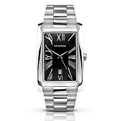 Sekonda - Men's silver rectangle dial watch