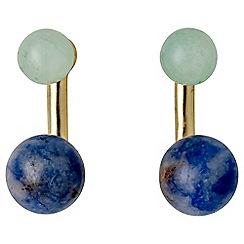 Pilgrim - Green gold plated earrings