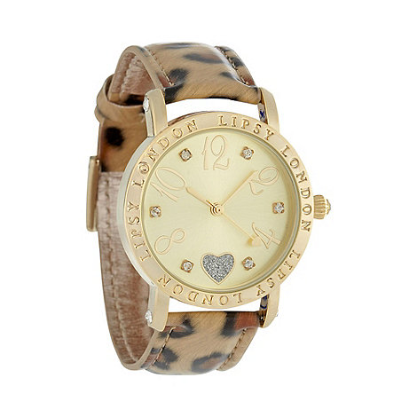 Lipsy - Ladies gold leopard watch