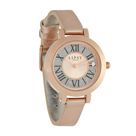 Lipsy - Ladies rose skinny strap watch