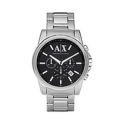 Armani Exchange - Men's silver date display watch