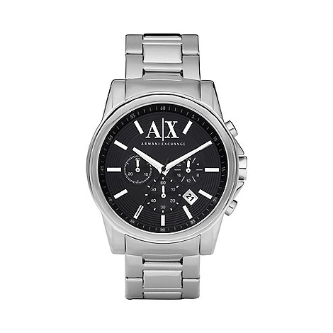 Armani Exchange - Men+s silver date display watch ax2084