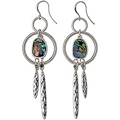 Pilgrim - Blue silver plated earrings