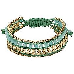 Pilgrim - Green gold plated bracelet