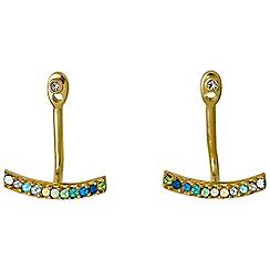 Pilgrim - Gold plated multi earrings