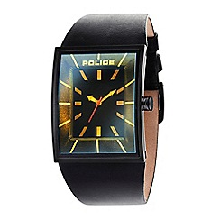 Police - Men's Vantage black strap watch