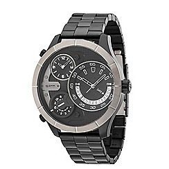 Police - Men's Bushmaster black stainless steel watch