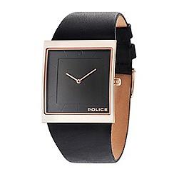 Police - Men's Skyline black strap watch