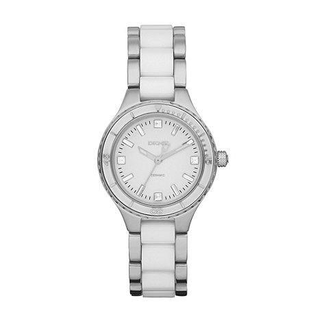 DKNY - Ladies silver two tone strap watch