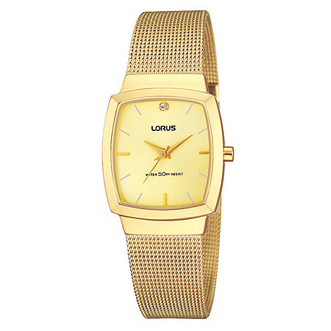 Lorus - Ladies gold mesh bracelet watch