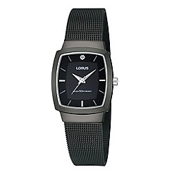 Lorus - Ladies black mesh bracelet watch