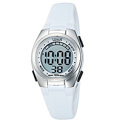 Lorus - Ladies white rubber strap watch