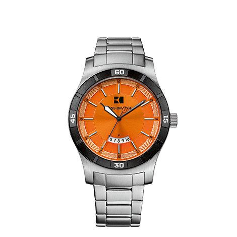 Boss Orange - Men+s orange analogue dial bracelet watch