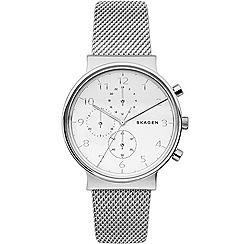 Skagen - Men's silver quartz bracelet watch