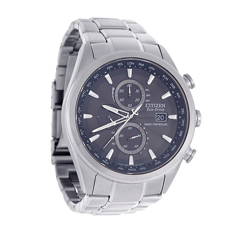 Citizen - Men+s silver +eco-drive+ chronograph watch