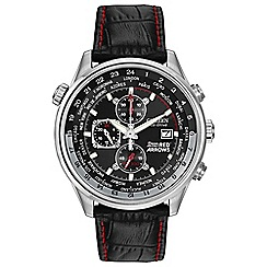 Citizen - Men's black 'eco-drive' chronograph watch ca0080-03e