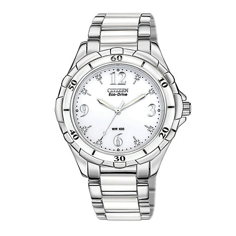 Citizen - Ladies silver +eco-drive+ watch