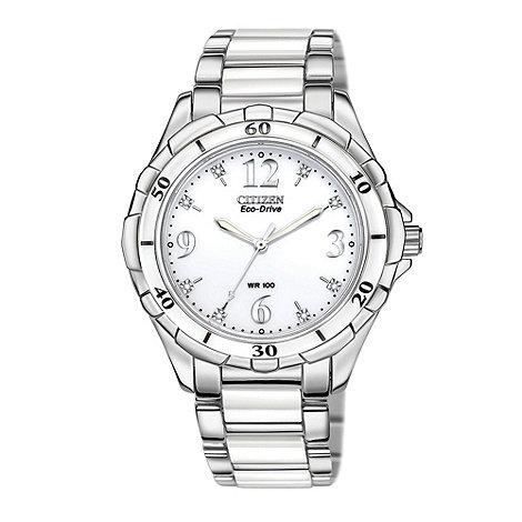 Citizen - Ladies silver +eco-drive+ watch