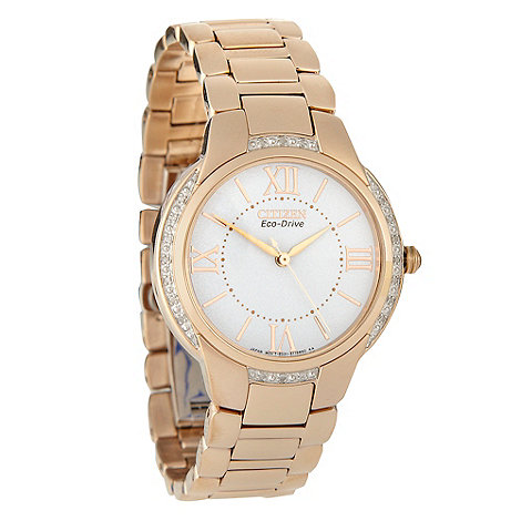 Citizen - Ladies gold +eco-drive+ watch