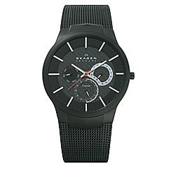 Skagen - Men's black multi-dial watch