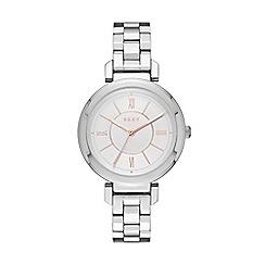 DKNY - Ladies Ellington white dial watch