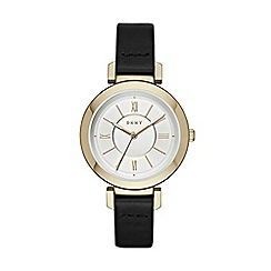 DKNY - Ladies Ellington leather strap watch