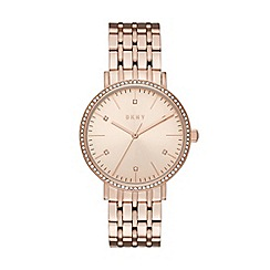 DKNY - Ladies Minetta rose gold watch
