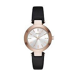 DKNY - Ladies Stanhope black strap watch