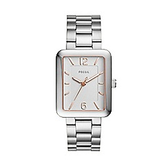 Fossil - Silver ladies atwater three-hand silver stainless steel watch
