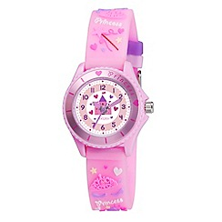 Tikkers - Kids' pink 'princess' watch tk0036