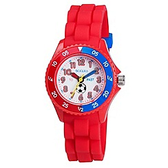 Tikkers - Kids' red time teacher football watch