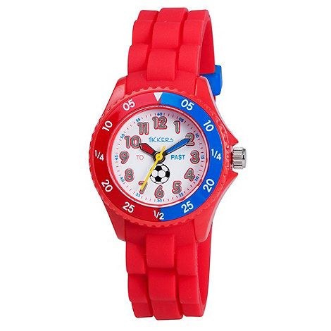 Tikkers - Kids+ red time teacher football watch
