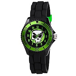 Tikkers - Kids' black skull watch