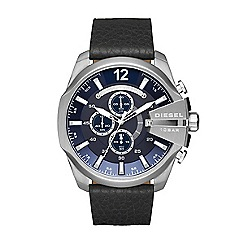 Diesel - Men's black 'mega chief' chronograph watch