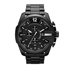 Diesel - Unisex black oversized chronograph dial bracelet watch