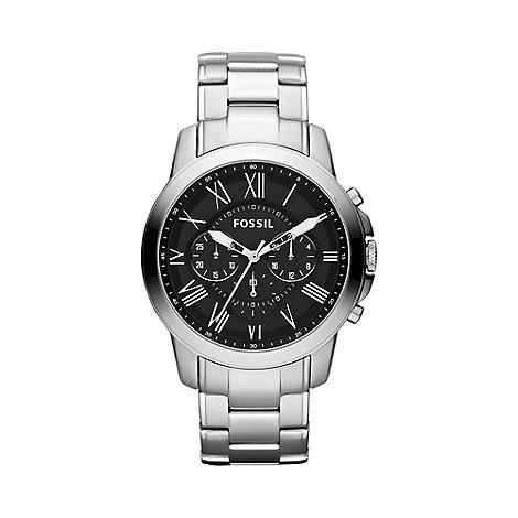 Fossil - Men+s silver roman chronograph dial bracelet watch