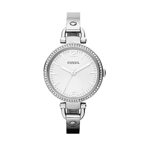 Fossil - Ladies silver horseshoe lug watch