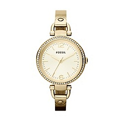 Fossil - Ladies gold horseshoe lug watch