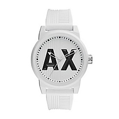 Armani Exchange - Mens White silicone watch
